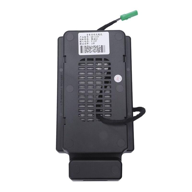 10W Auto Mobiele Telefoon Qi Draadloze Opladen Pad Module Console Opbergdoos Voor Audi Q3 2013 2019 Auto accessoires - 5