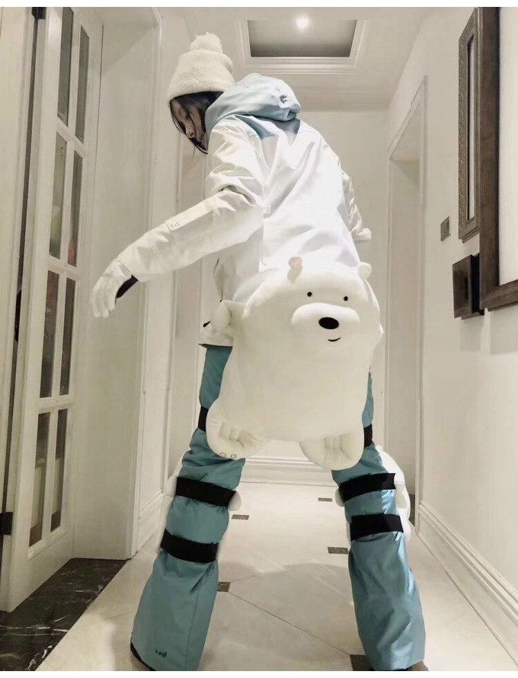 Long Knee Pads Shin Guard Leg Sleeve Calf Knee Brace Support Ski Sport Protector