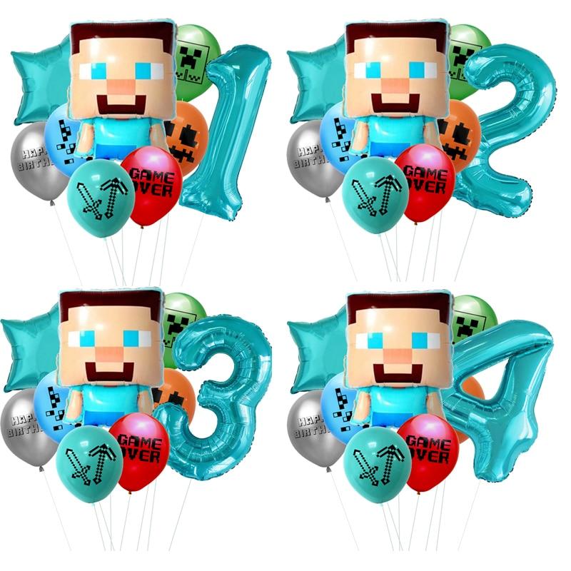 Pixel TNT шар Vedio игры латекс игровую тематику вечерние шары День рождения вечерние украшения