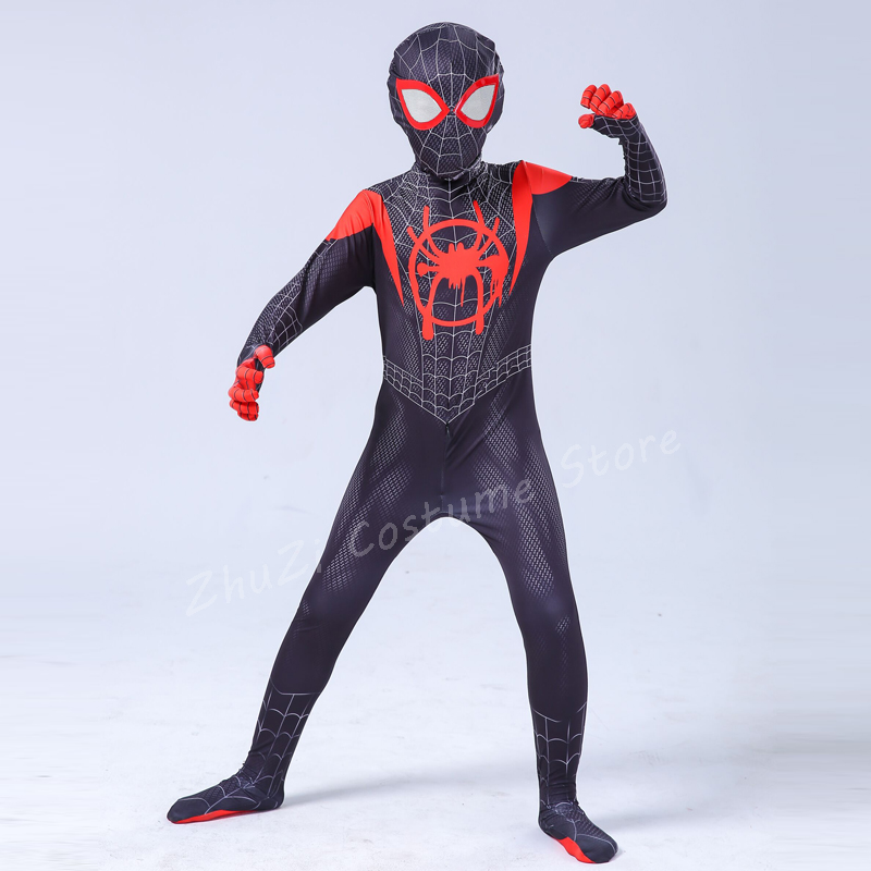 High Quality Superhero Spiderman Costume Adult Halloween Costumes For Kids Child Boys Spandex Zentai Suit Carnival Avengers Men