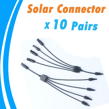 10 Pairs Solar Cable Electrical Connectors IP67 DC1000V 30A Wire Connector 4 Pin Male Female for PV System High Quality