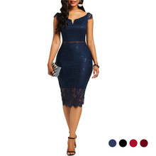 Sexy Women Dress Lace Hollow Backless Elegant Party Chic Retro Black White Dresses Plus Size