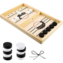 Toys Board-Game Table Interactive Adults Family Children DIY Fun Puck for Hockey Fast-Sling
