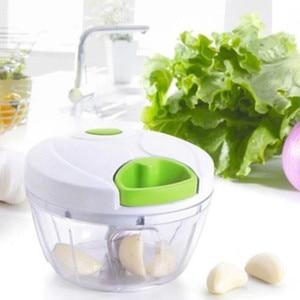Image 4 - 500ml Manuellen Küchenmaschine Schredder Gemüse Fleisch Chopper Slicer Fleischwolf Werkzeug