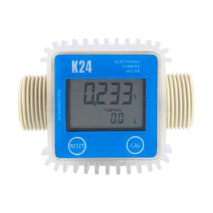 Image 3 - דיגיטלי LCD מד זרימה K24 טורבינת דיזל דלק מד זרימה עבור כימיקלים מים ים להתאים זרימת נוזל מטר מדידה כלים