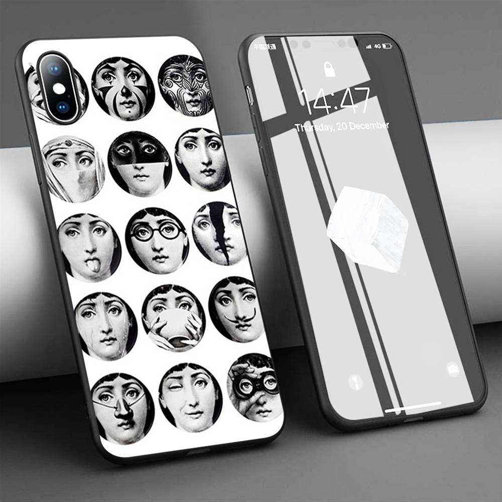 Coque Fornasetti the Face Plate Soft Silicone Phone Case for iPhone 11 Pro Max X 5S 6 6S XR XS Max 7 8 Plus Case Phone Cover