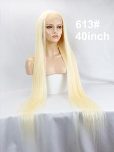 Image 5 - Eseewigs 28 30 32 34 36 38 40 42 inch Long Brazilian Virgin Human Hair Full Lace Wigs Silk Straight 613 Color for Women 150%
