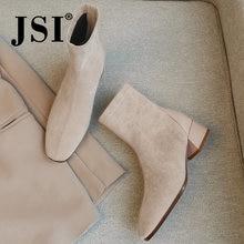 Jsi/модные женские сапоги до середины икры на высоком каблуке