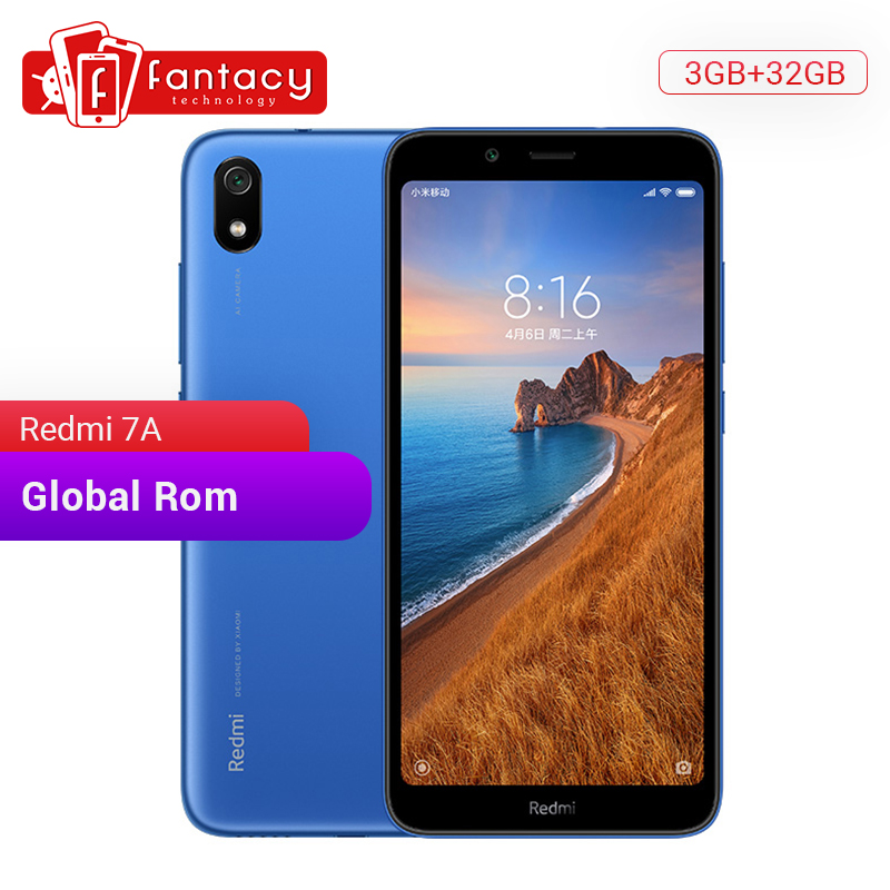 "Global ROM Xiaomi Redmi 7A 7 A 3GB 32GB 5.45"" HD Snapdargon 439 Octa core Mobile Phone 4000mAh Battery 13MP Camera Smartphone"