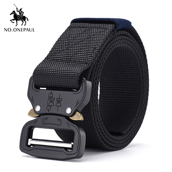 NO.ONEPAUL metal multifunctional buckle outdoor sports hook new Tactical belt Military high quality Nylon men's training belt military web belt 1 5 inch rapid release gun belt tactical nylon duty belt with buckle multifunctional gear outdoor equipment