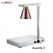 DR1 electric stainless steel food warmer Lamp heating warming lamp light for hotel restaurant equipment dz 2 warming lamp 2 head lamp hotel buffet professional heating machine