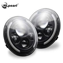 NLpearl 7 بوصة LED المصابيح الأمامية المقدمة 4x4 ل جيب رانجلر JK قبالة الطريق زاوية عيون ل لادا نيفا الحضرية مصباح أمامي مستدير 12 فولت 24 فولت