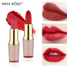 MISS ROSE Four-color Velvet Matte Fog Lipstick Mesh Red Is Not Easy To Decolorize Not Easy To Stick A Cup of Lip Glaze Lipstick