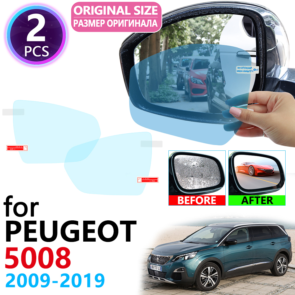 for <font><b>Peugeot</b></font> <font><b>5008</b></font> MK1 MK2 MPV 2009~2019 Full Cover Rearview Mirror Rainproof Anti Fog Film Accessories <font><b>2010</b></font> 2012 2015 2017 2018 image