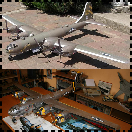 US B29 Superfortress Bomber Paper Craft 1:47 Airplane Model