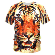 UJWI Fashion 3d T-shirt Animal Lion Shirt Camiseta T Shirt Men Funny T Shirts Mens Clothing Casual Fitness TeeTop Tiger Tshirt(China)