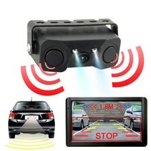 Car Reverse Parking Radar Sensor 170 Degree HD Night vision Car Reversing Radar sensor detector Camera Fits For Universal Car car reverse parking camera with radar sensor