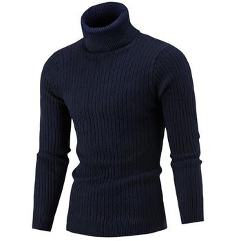 Sweter z golfem sweter męski sweter męski sweter męski pulower sweter męski Pull Homme sweter na szyję Stretch sweter męski tanie i dobre opinie Standardowy wełny Na co dzień Komputery dzianiny Octan COTTON Stałe M L XL 2XL 3XL Swetry Pełna REGULAR Brak NONE Sleeve Head