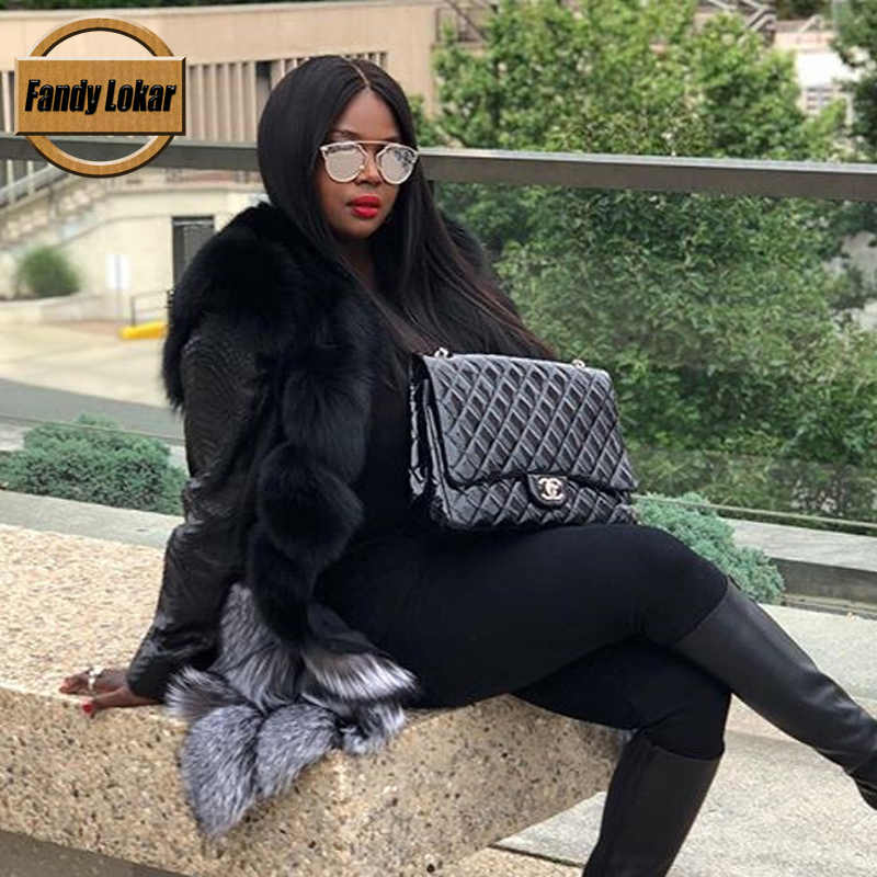 Fandy Lokar אמיתי שועל פרווה אפוד נשים חורף אופנה צבעוני אמיתי אדום שועל פרווה אפוד נשי טבע פרוות מעיל מעיל RFV101