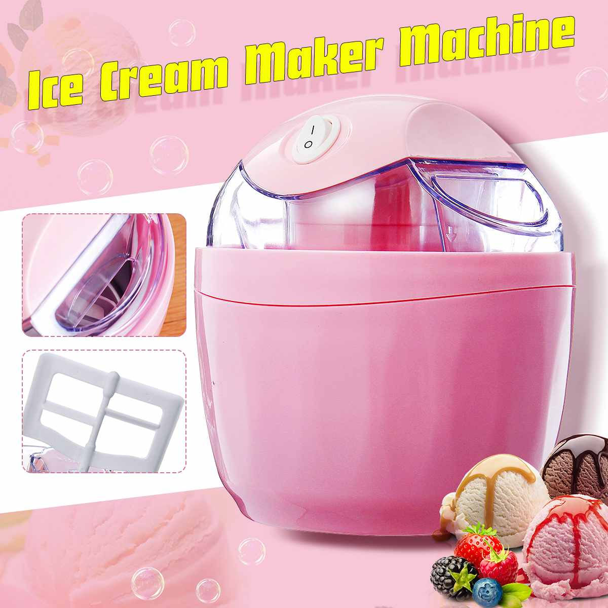 20V Household Ice Cream Maker Ice Cream Machine Portable Ice Maker Available Easy Operation High Quality