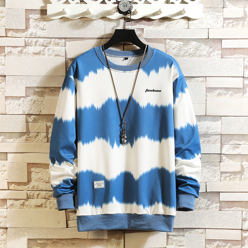 Autumn Spring Hoodie Sweatshirt Mens Black White Hip Hop Striped Punk Pullover Streetwear Casual Fashion Clothes OVERSize 5XL