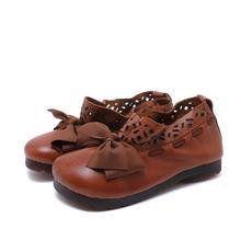 """""""Женские простые тонкие туфли на плоской подошве; Кожаная"""