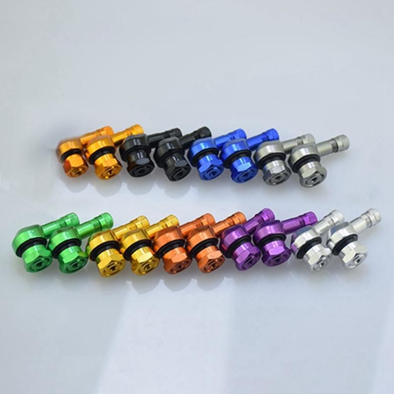 2pcs/lot Universal Wheels Valve Stems Motorcycle Aluminum Wheels Tire Valve Stems Caps 90 Degree Car-Styling