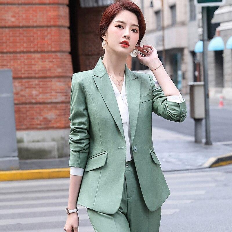 Women's high-quality professional suit pants two-piece feminine 2020 new autumn slim fit ladies blazer Elegant trousers office