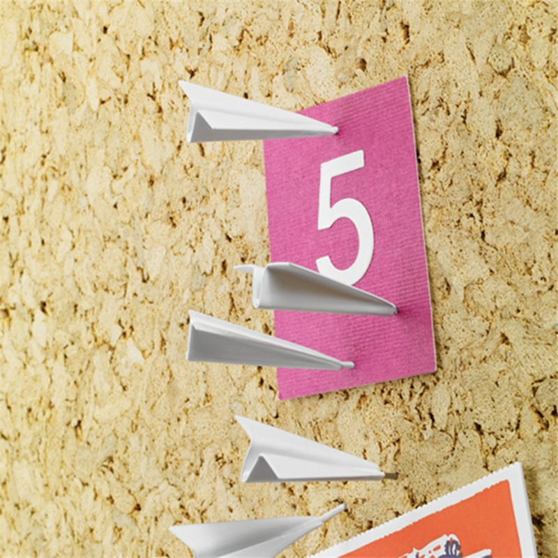 6pc Wall Nail Paper Plane Thumbtack Creative Photo Wall Decoration Cork Board Pins Three-dimensional Cartoon Background Push Pin