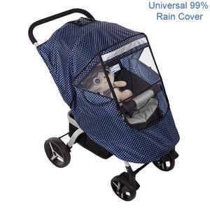 Image 1 - Baby Stroller Raincoat Cover Trolley Umbrella Pram Rain Cover Snow Windshield