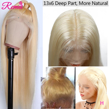 13x6 Lace Frontal Wig 613 Honey Blonde Lace Front Human Hair Wigs Brazilian Straight Transparent Lace Wig pre plucked 150 % Remy