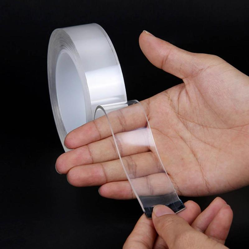 Transparent And Seamless Magic Paste Nano Double-sided Tape Waterproof Waterproof Washable Tape Strong Adsorption Artifact