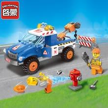 Legoingly City Series Road Wrecker car Compatible Building Blocks children Educational Bricks minis Toys 1109