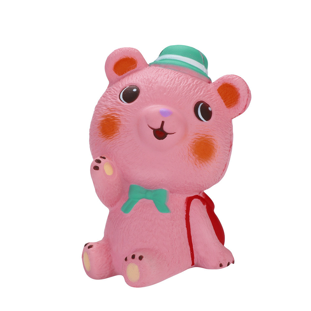 Squeeze Stress Reliever Cute Bear Slow Rising Toys Children Gifts Cartoon Decoration Doll Stretchy Healing Toys #B