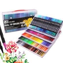 120 цветов, кисть для консилера, ручки для окраски, кончики кистей, художественные маркеры для окраски, наброски, рисования