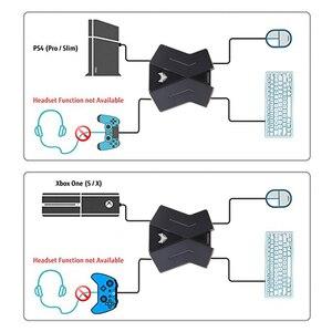 Image 4 - PS4 Xbox One スイッチ PS3 PC マウスキーボードコンバータゲームパッドアダプタコントローラアダプタ呼吸 Led ライト FPS TPS RPG ゲームアクセサリー