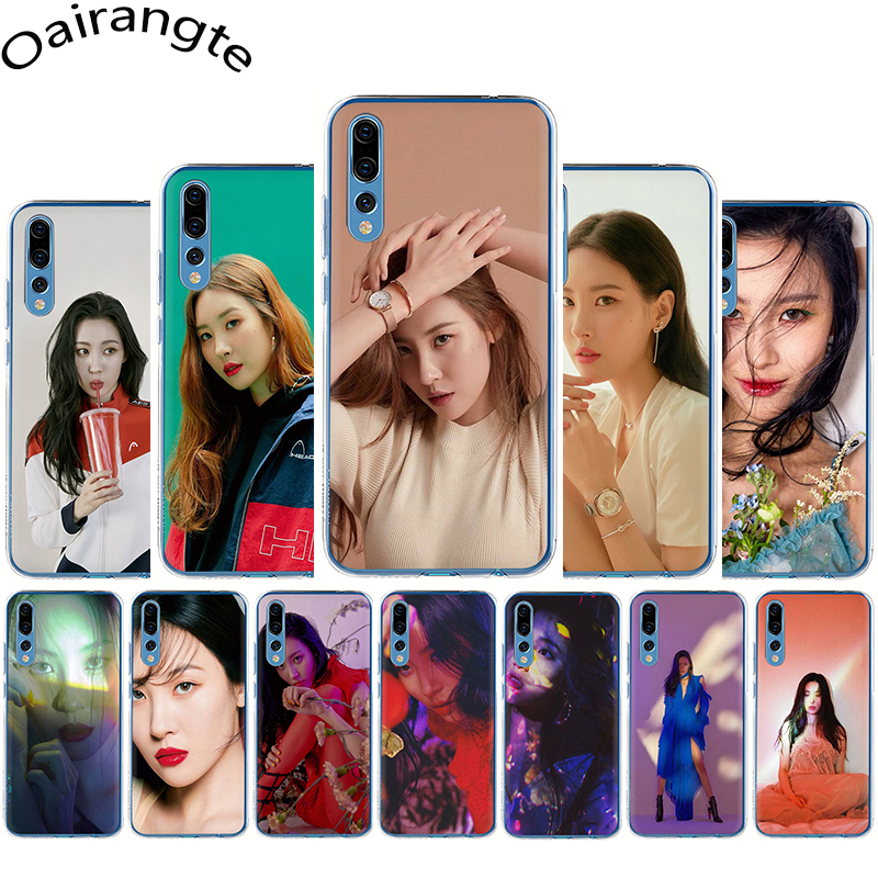 Sunmi Lee Kpop chica duro caso de la cubierta del teléfono para Huawei Honor 6A 7A 2GB 3GB Pro 7X8 Lite 8C 8X9 10 Lite