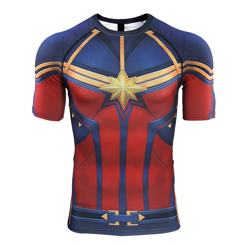Avengers Endgame Captain Marvel Slim T shirt Quick Drying Short Sleeve Women T shirt for Spring Autumn Casual Clothes Top Tee in T Shirts from Women 39 s Clothing