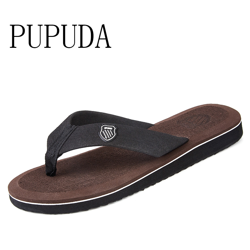 PUPUDA  Flip Flops Classic  Men Casual Shoes Fashion Trend House Slippers Summer Lightweight  Sandals Comfortable Beach Shoes