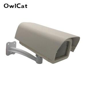 Image 1 - Ao ar livre à prova de intempéries câmera de vigilância de vídeo caso casa diy mini câmera cctv habitação janela vidro claro com suporte