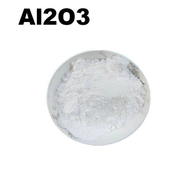 ارتفاع درجة الحرارة المقاومة الأبيض التشحيم حوالي 1 متر مايكرو Al2O3 أكسيد الألومنيوم نانو السيراميك مساحيق عالية النقاء 99.9%