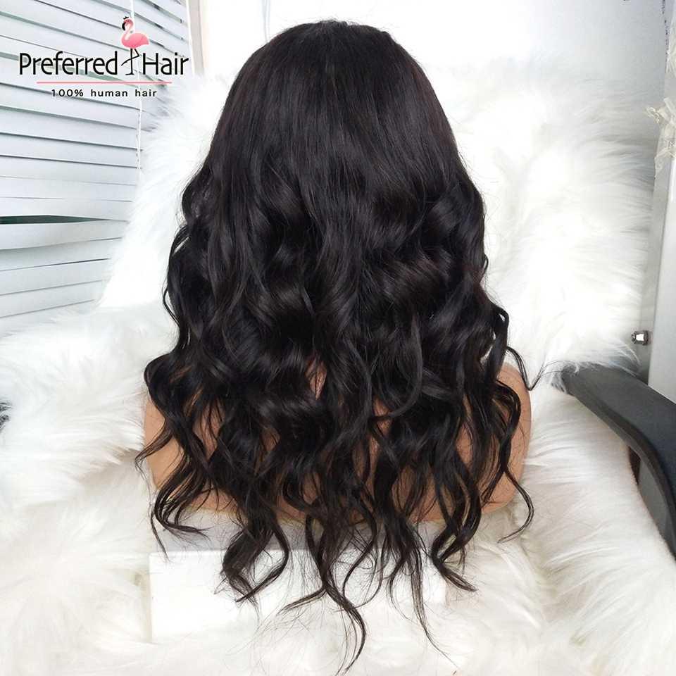 Предпочтительный эффектом деграде (переход от темного к человеческие волосы парик 150 Плотность 13x6 Синтетические волосы на кружеве парики с челкой свободная волна, несекущиеся бразильские вьющиеся волосы Remy парики для чернокожих Для женщин