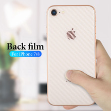 Ultra-thin film for iPhone 8 7 6 6s Full Cover Carbon Fiber Back Screen Protector Film For iPhone 6 6s 7 8 Plus X XS XR XS Max(China)