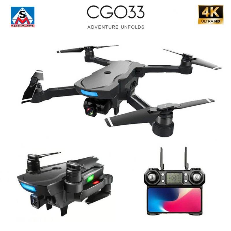 <font><b>CG033</b></font> Brushless FPV Quadcopter with 4K UHD Wifi Gimbal Camera RC Helicopter Foldable <font><b>Drone</b></font> GPS Dron Kids Gift VS F11 ZEN K1 image