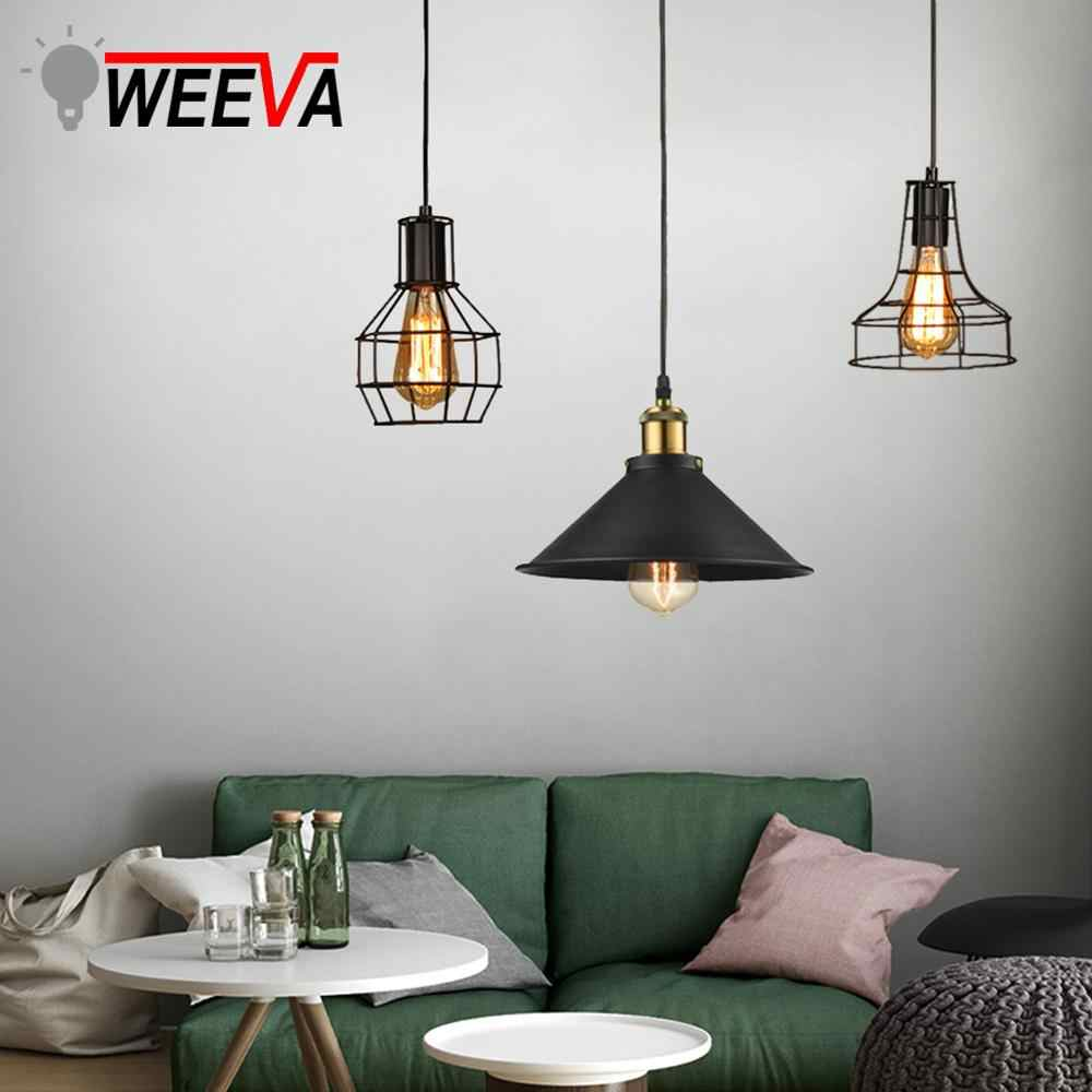 LED Modern Pendant Light Industrial Cage E27 Vintage Hanging Lamp Loft Retro Kitchen Dining Room Restaurant Bar Counter