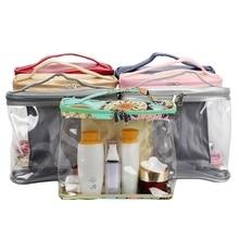 Practical Durable PVC Transparent Square Waterproof Large-capacity  Small Items Storage Bag Handbag Household Travel Supplies