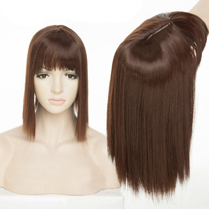 Женская накладная заколка для волос, длинные прямые синтетические волосы Air Bang, серая/черная/светлая шпилька для волос, челки из высокотемпе...