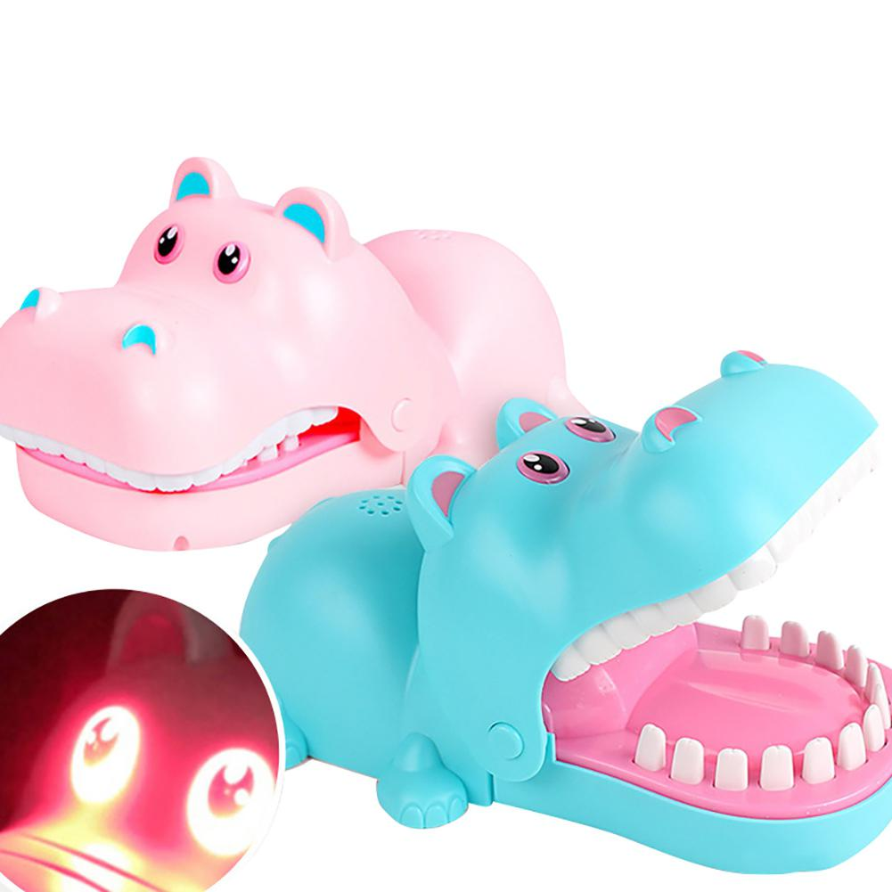 GloryStar Creative Game Prank Hippo Dentist Toy Biting Finger Game Funny Toys Parent-Child Interactive Game