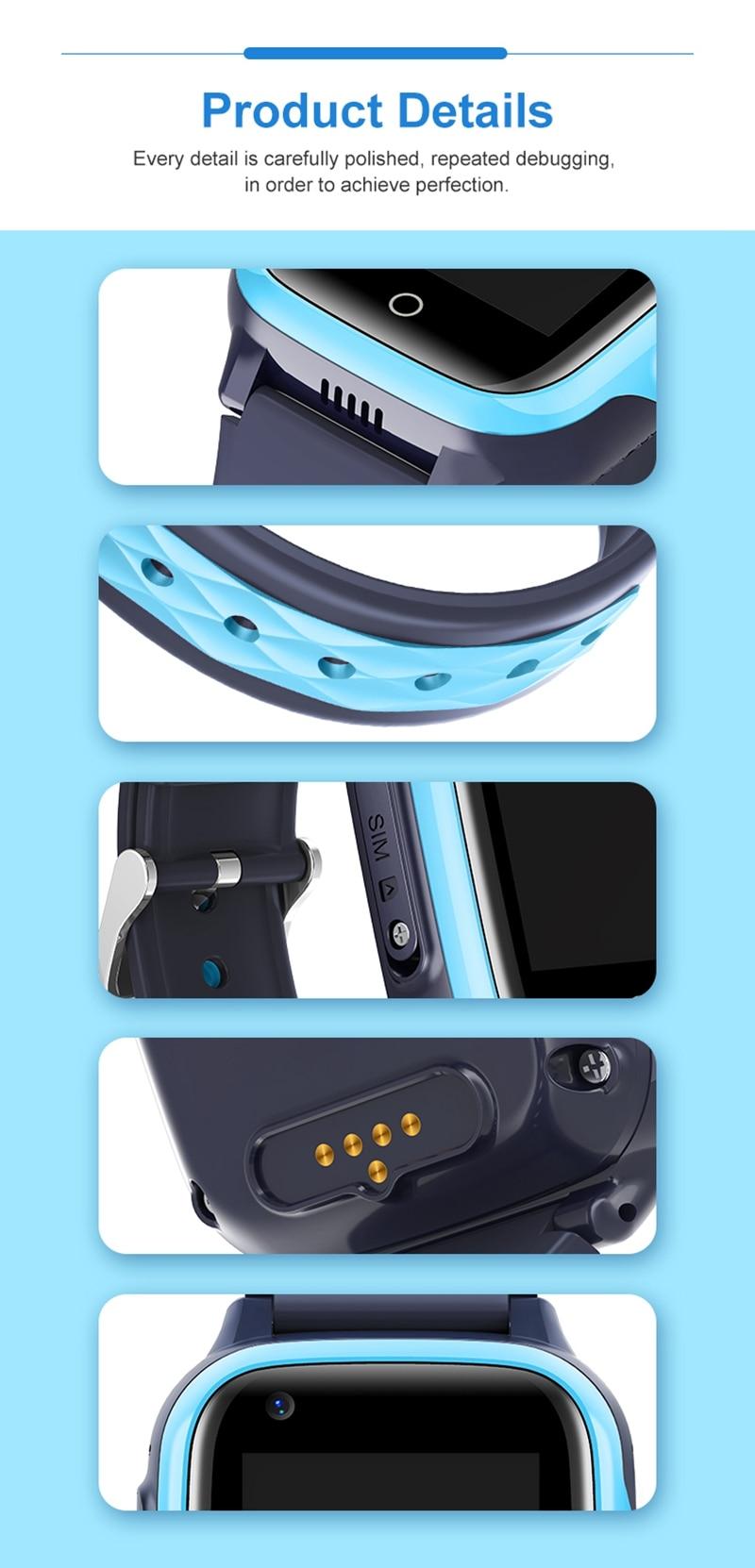 Intelligens órák gyerekeknek 4G HD videohívás GPS Smart-Watch baba vízálló fényképezőgép SOS elveszett kereső óra születésnapi ajándék (10)