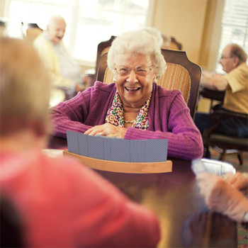 25 #2pc drewniany zestaw głośnomówiący uchwyt na karty do gry zakrzywiona konstrukcja gra planszowa Poker Seat Lazy Poker baza gra organizuje ręce tanie i dobre opinie CN (pochodzenie) Drewna